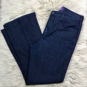 NYDJ dark wash trouser denim jeans size 10